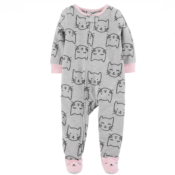 New Carter/'s Toddler Girl Kitty Cat Ice Cream Nightgowns 3 4 5